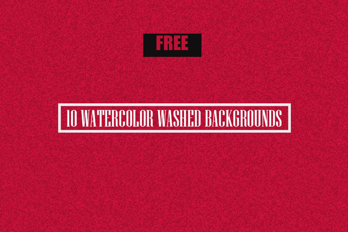 10 Free Watercolor Washed Backgrounds