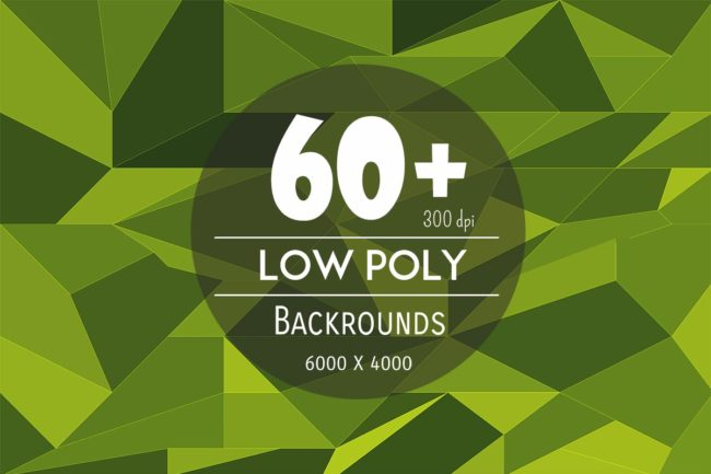 60+ Low Poly Backgrounds