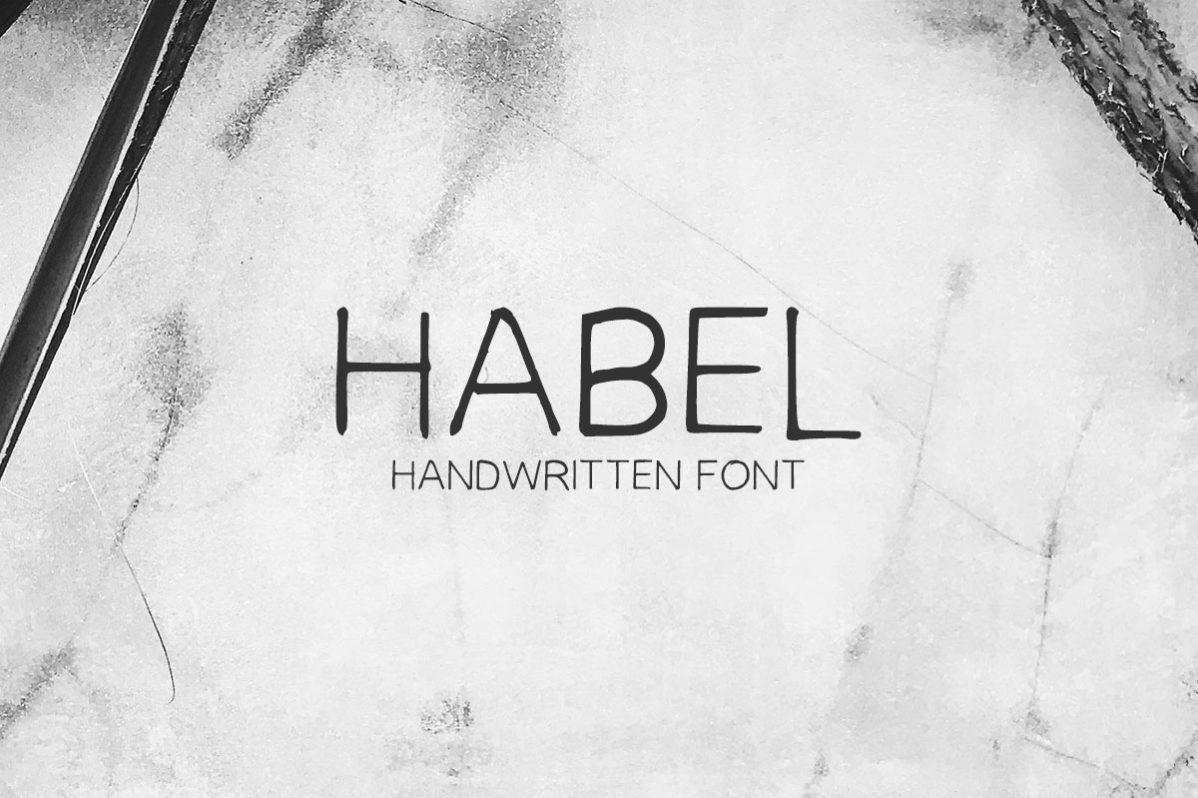 Free Habel Handwriting Font