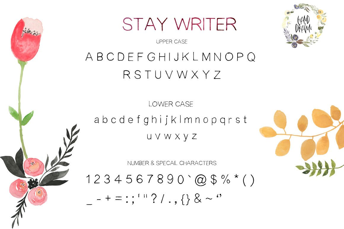 STAY WRITER FREE HANDWRITING FONT DOWNLOAD