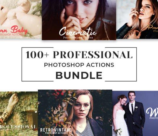 100+ Free Pro Photoshop Actions Bundle