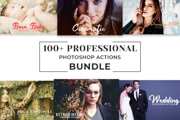 100+ Free Pro Photoshop Actions Bundle