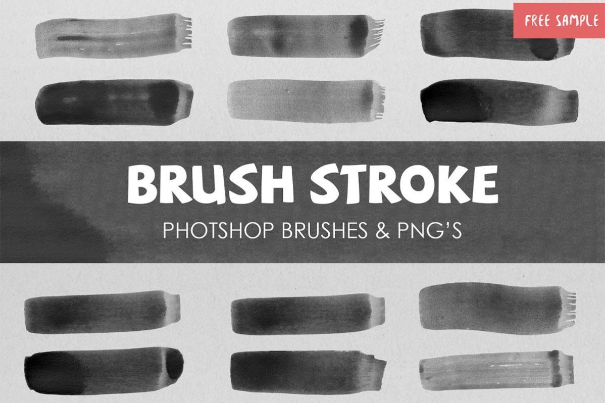 12 Free Watercolour Brush Stroke Vol.1