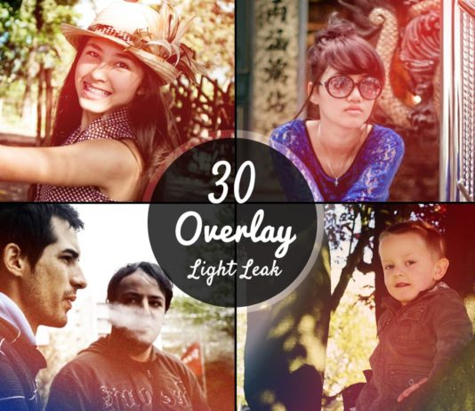 30 Free Light Leaks Overlay Textures