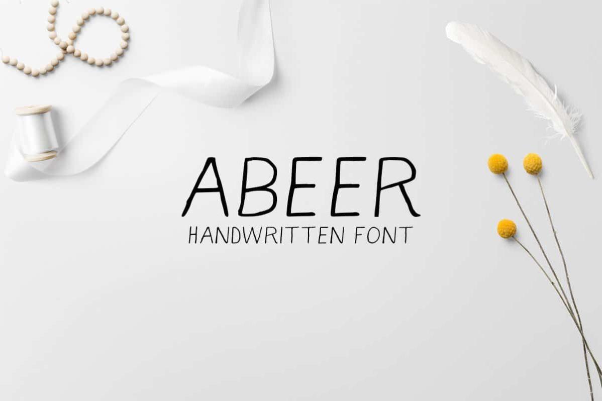 Free Abeer Handwriting Font