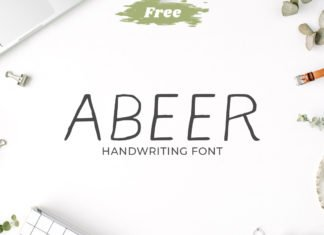 Free Abeer Handwriting Font