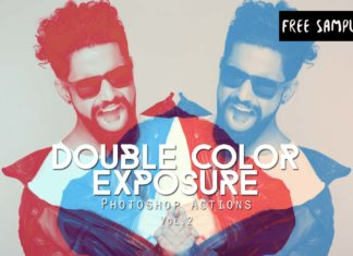 Free Double Color Exposure Photoshop Actions Vol.2