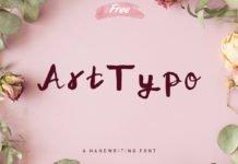 Free Art Typo Handwriting Font