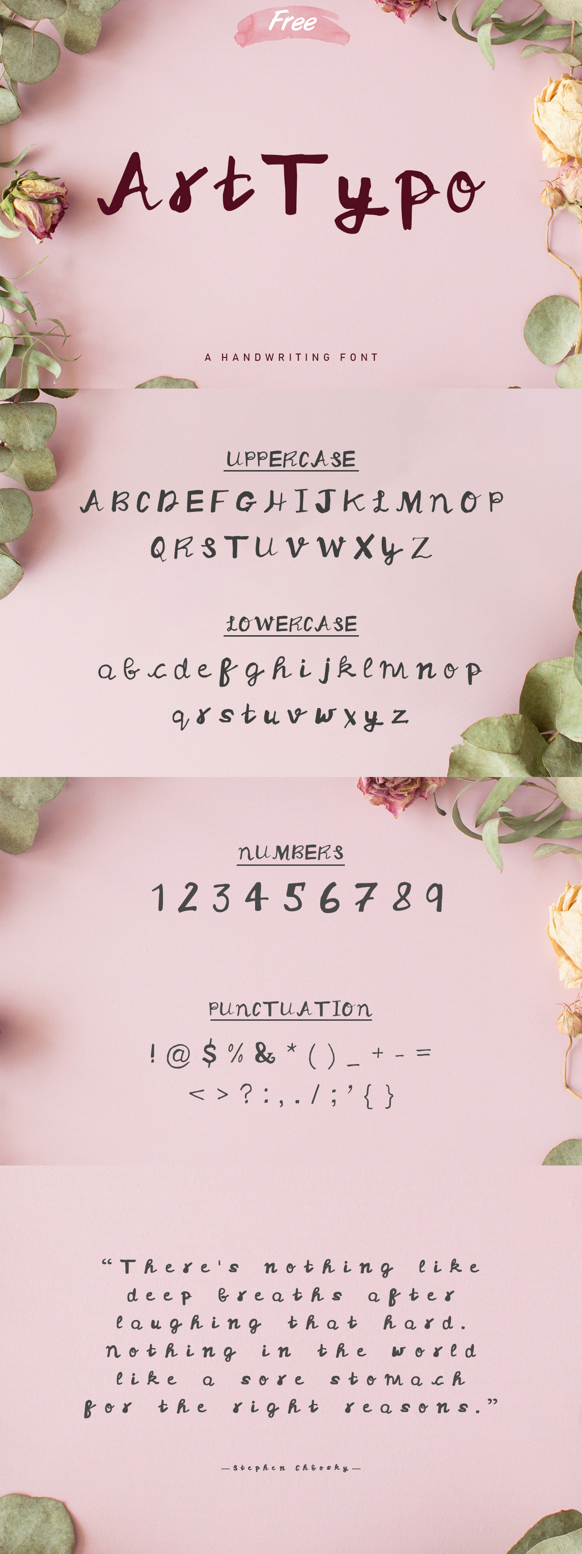 Free Art Typo Handwriting Font