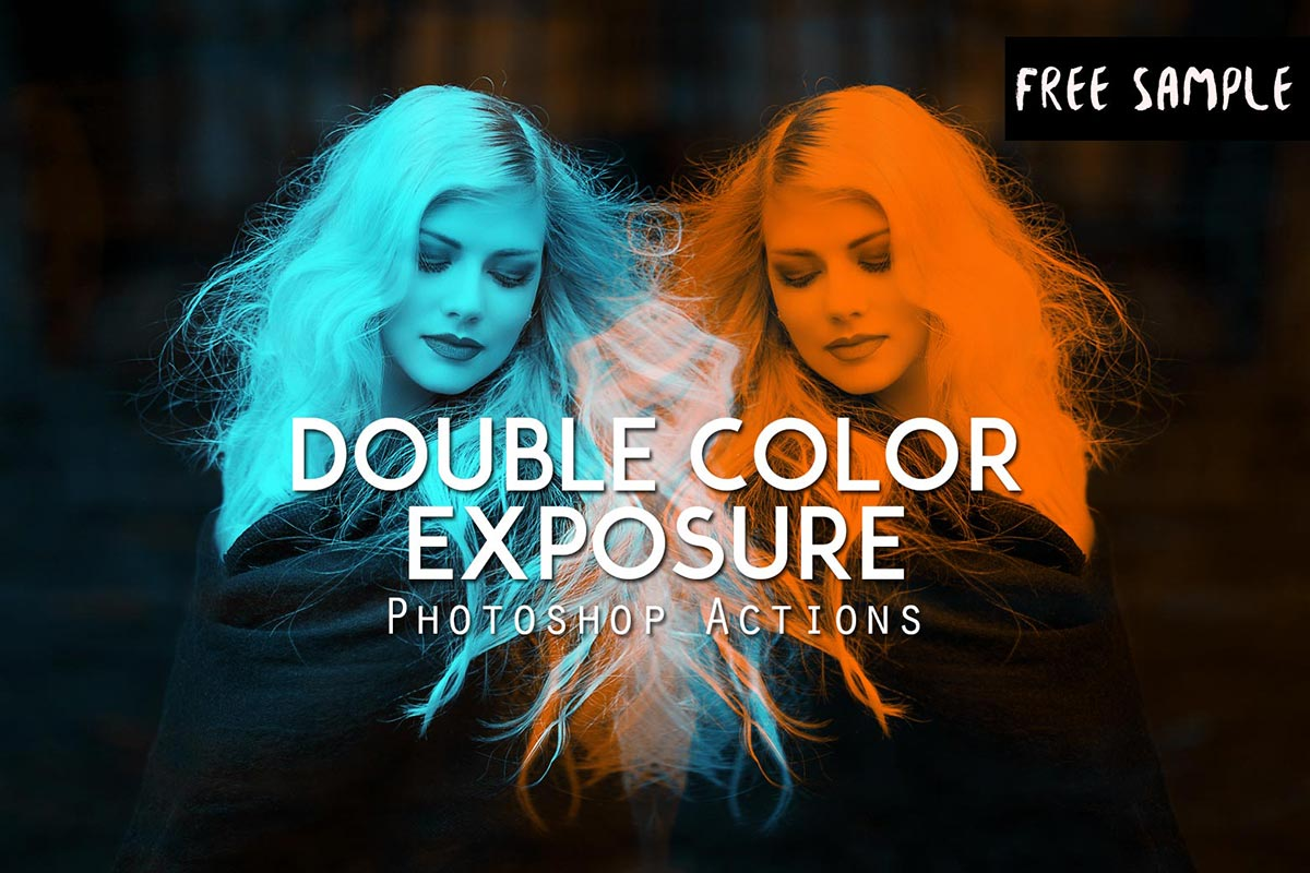 double color exposure photoshop action free download