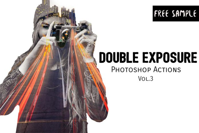 Free Double Exposure Photoshop Actions Vol.3