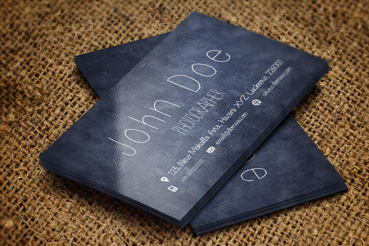 free handmade creative photography business card