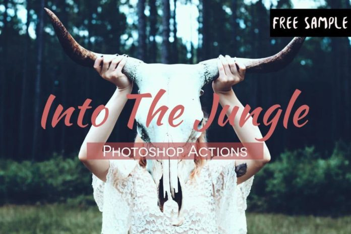 Free Into The Jungle Photoshop Actions