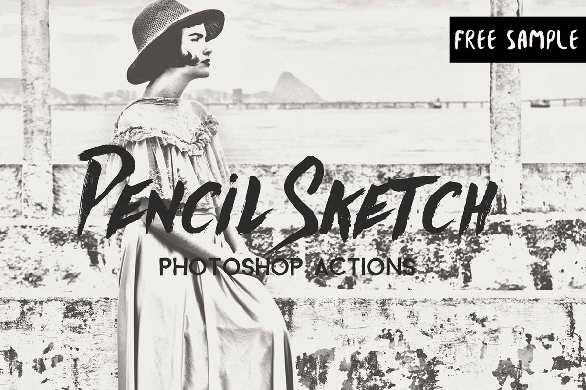 Free pencil sketch photoshop actions