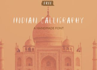 Free Indian Calligraphy Handmade Font