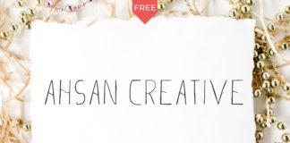 Free Ahsan Creative Lovely Sans Serif Font