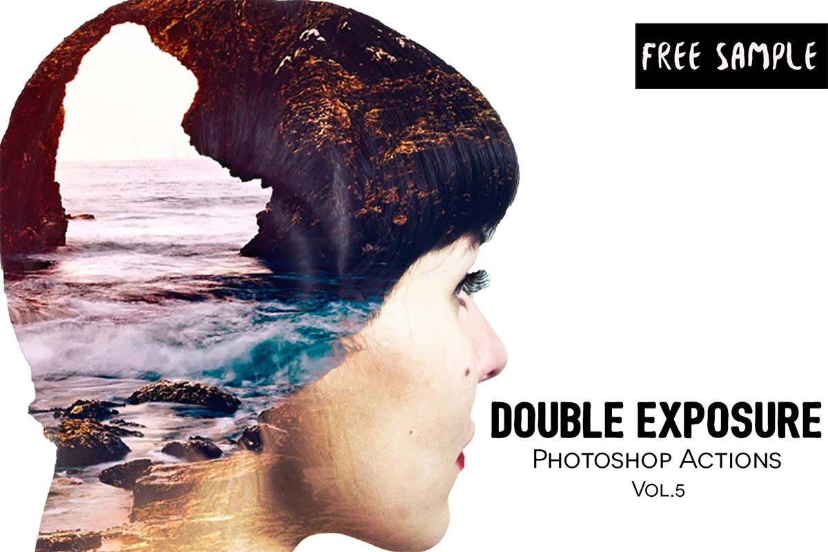 free double exposure photoshop actions vol 5