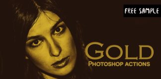 Free Gold Photoshop Actions