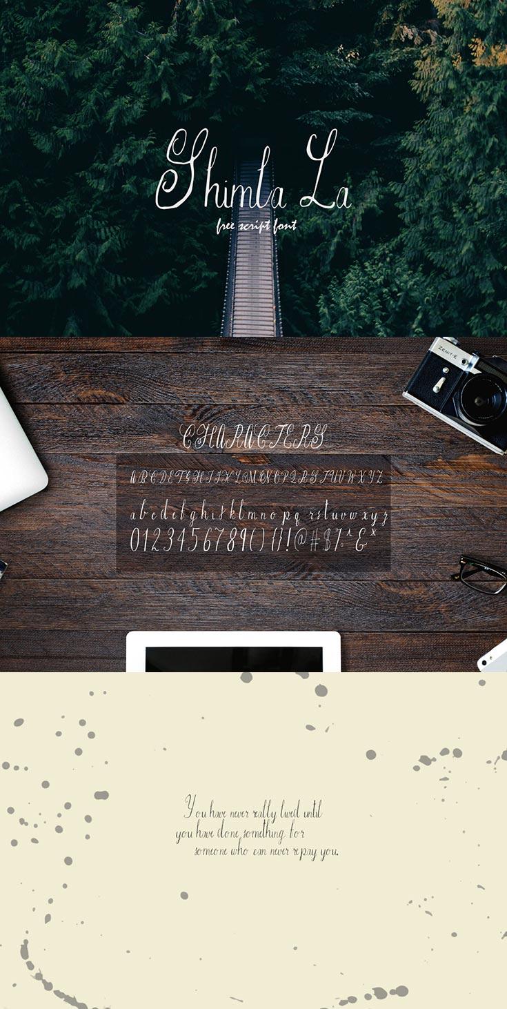 Free Shimla La Script Font