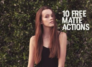 Free Matte Photoshop Actions