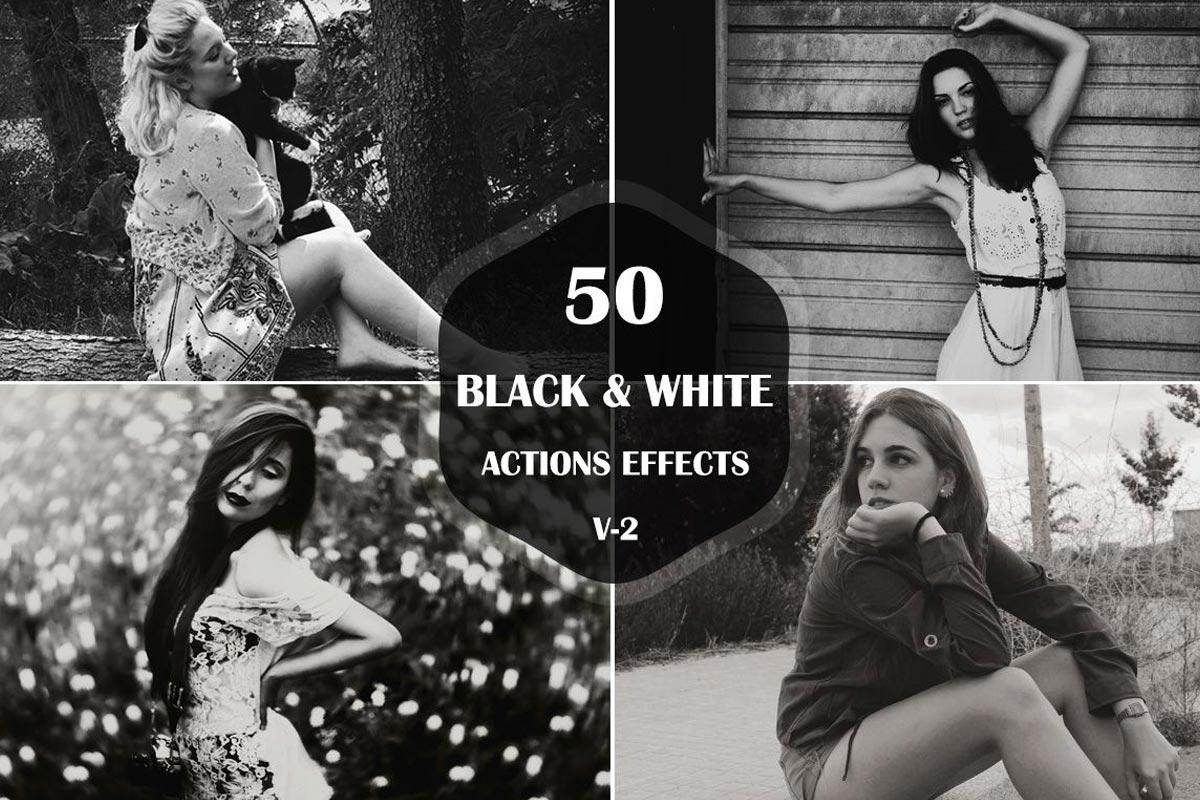 Free Black White Photoshop Actions