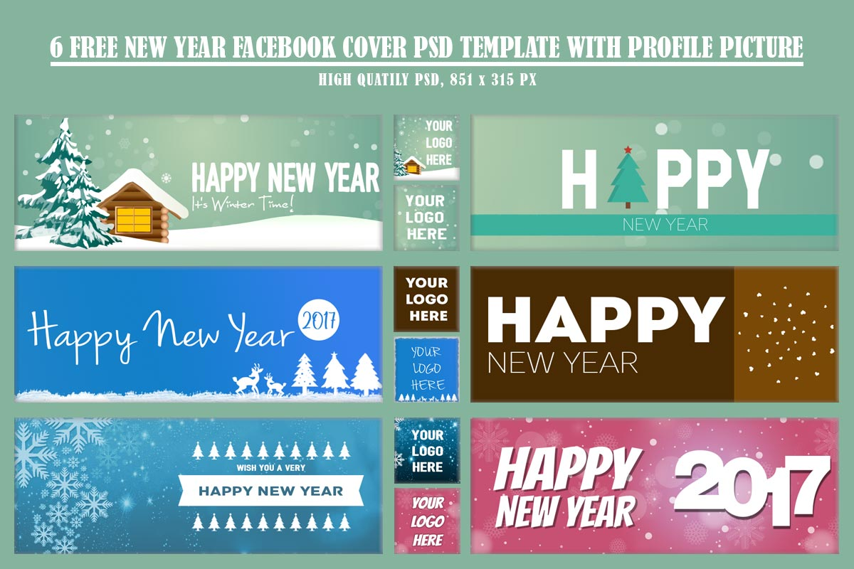 6 Free New Year Facebook Timeline Cover Template Creativetacos