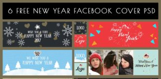 6 Free New Year Facebook Cover PSD