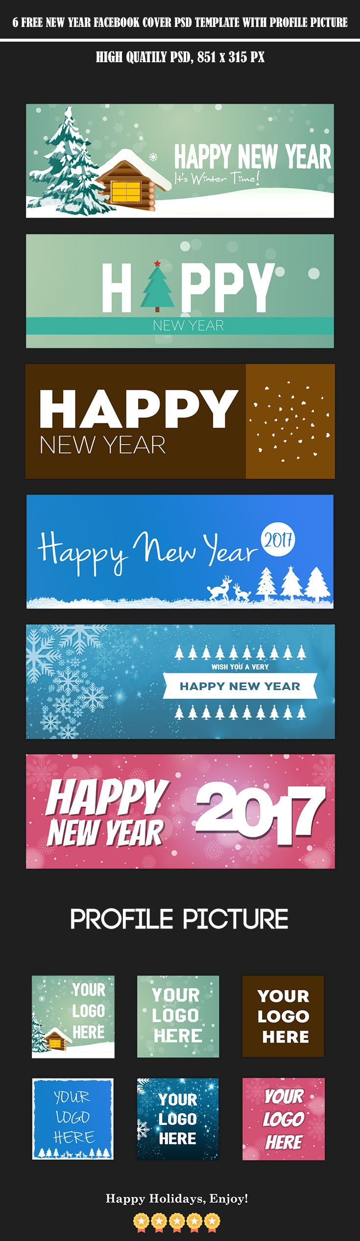 6 Free New Year Facebook Cover Template