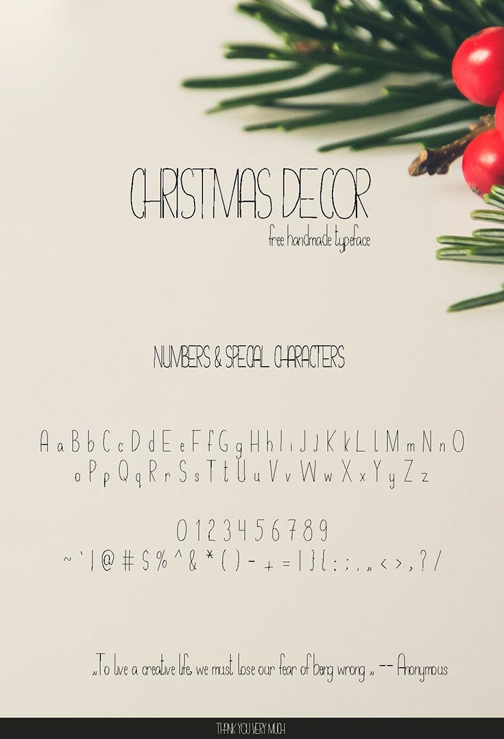 Free Christmas Decor Font