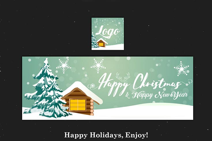 Free Christmas & New Year Facebook Cover PSD V.5
