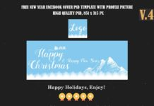 Free Christmas & New Year Facebook Covers Ver. 4