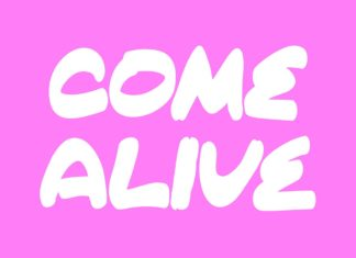 Free Come Alive Brush Font