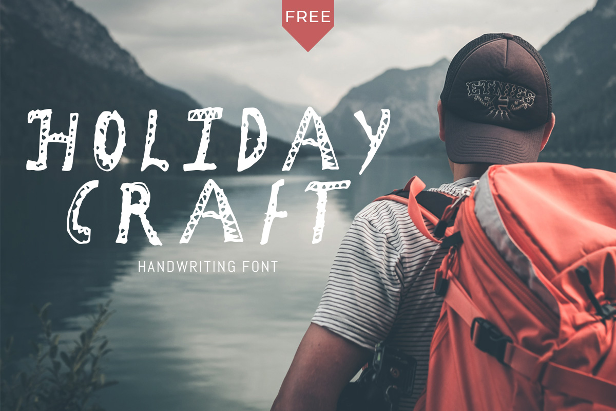 Free Holiday Craft Girly Font