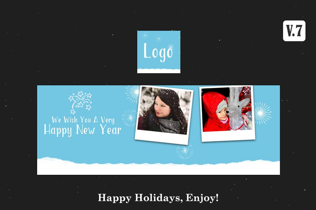 Free New Year Facebook Cover PSD V.7