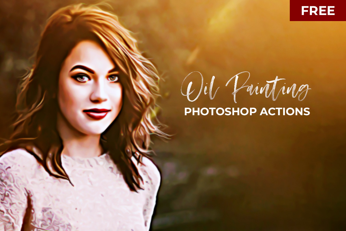 Free oil painting photoshop actions version 2