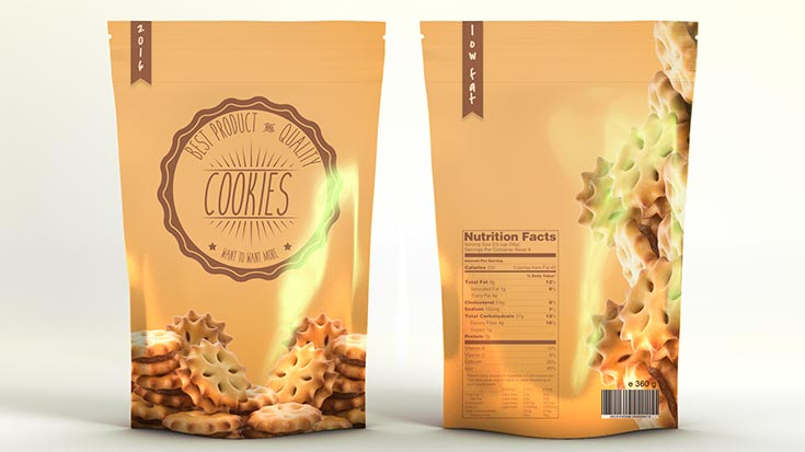 Free Snacks Product Bag Mockup
