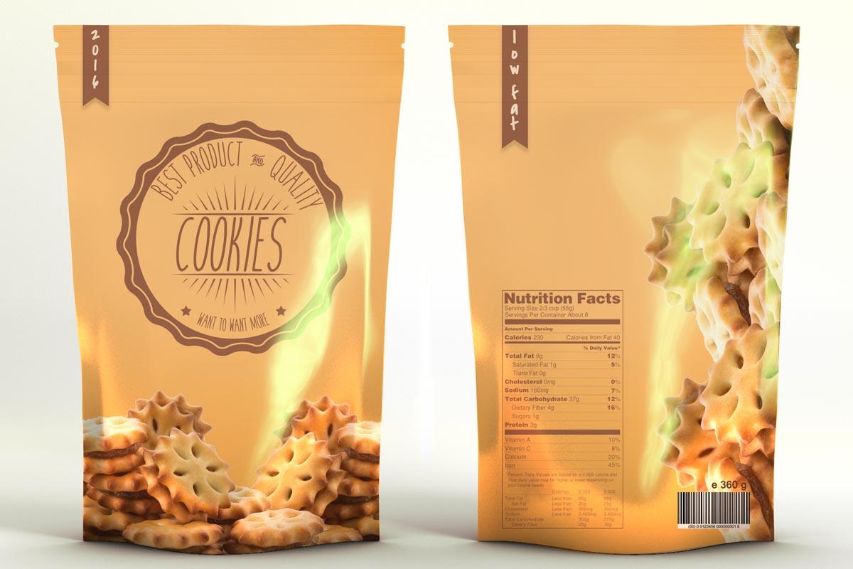 Free Snacks Product Bag Mockup