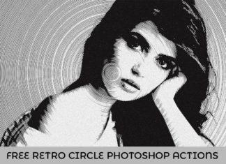 Free Retro Circle Photoshop Actions