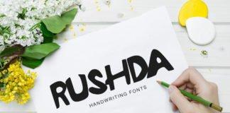 Free Rushda Cool Funky Handmade Font
