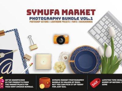 95% OFF Symufa Market Photography Actions & Presets Bundle Vol.1