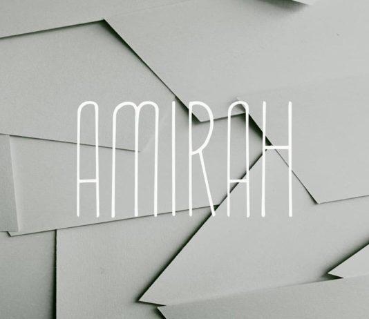 Amirah Display Font