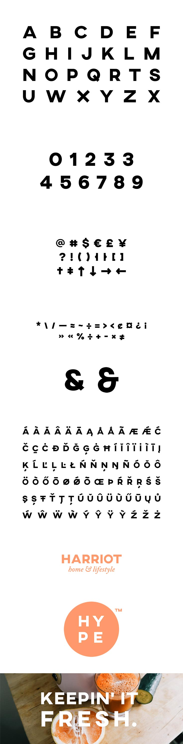 Free Axis Typeface