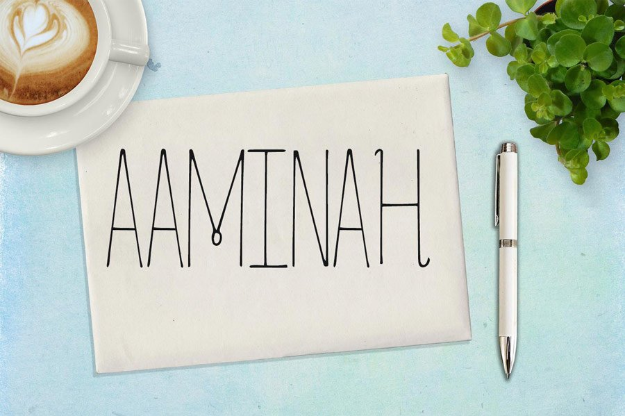 Free Aaminah Font