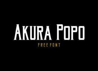 Free Akura Popo Display Font