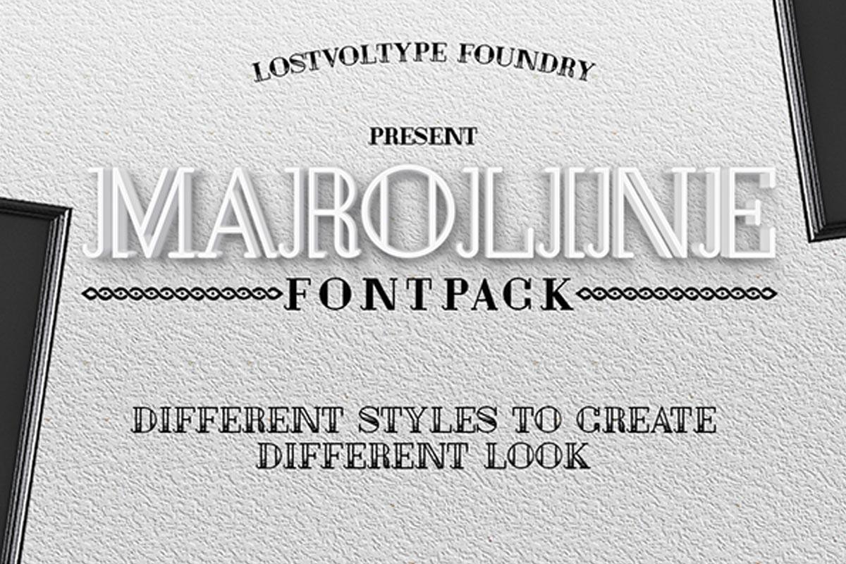 Free Maroline Typeface