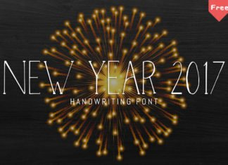 Free NewYear 2017 Typeface