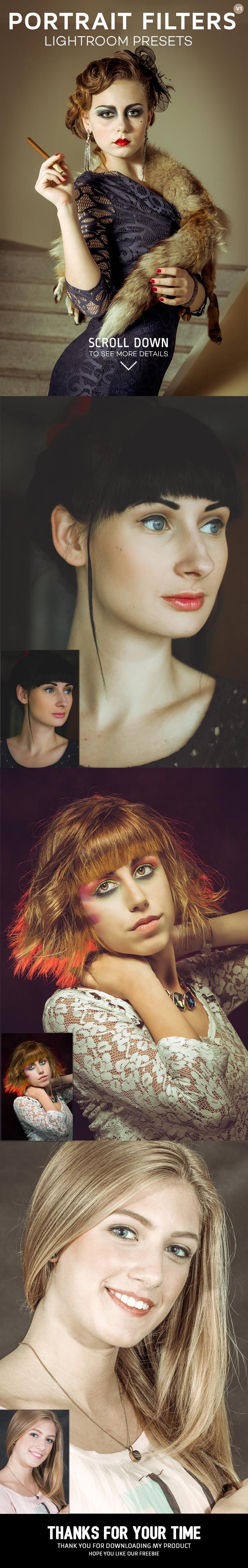 3 Free Portrait Lightroom Presets Ver. 1 Pinterest Display