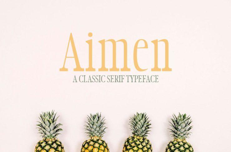 Aimen - A Classic Serif Typeface