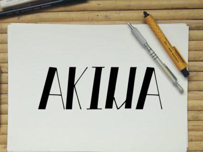 Free Akiva Hand Made Font