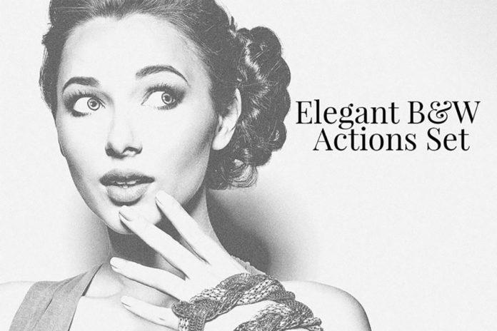 Elegant BW Photoshop Actions Set